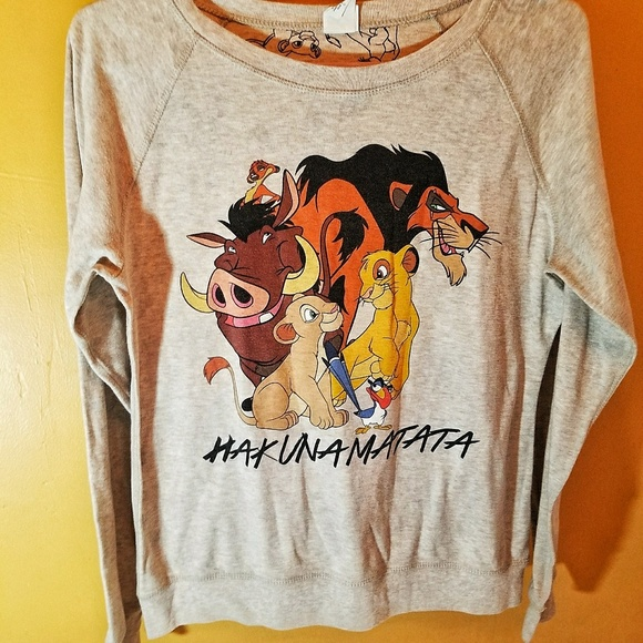 5471e764 Disney Tops | 525 Lion King Hakuna Matata Long Sleeve L | Poshmark